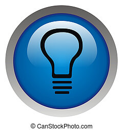 Glossy idea web icon design element. Electricity payment