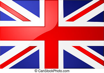 Glossy illustration of the Union Jack, the British flag