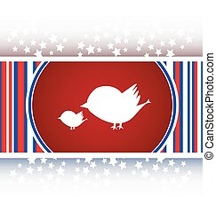 Glossy isolated website and internet web icon with bird family sign vector