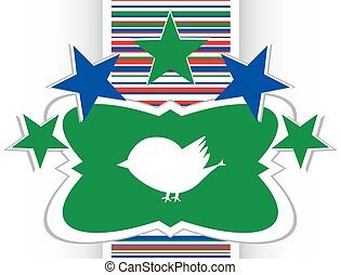 Glossy isolated website and internet web icon with bird symbol vector