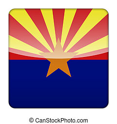 Glossy logo icon app flag of the US state of Arizona
