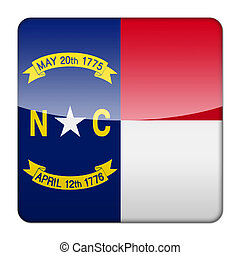 Glossy logo icon app flag of the US state of North Carolina