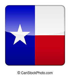 Glossy logo icon app flag of the US state of Texas