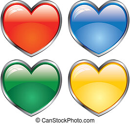 glossy love icon
