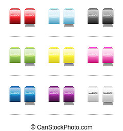 Glossy mailbox color set for your design