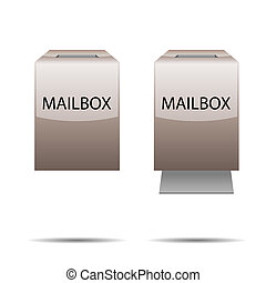 Glossy mailbox for your design