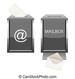 Glossy mailbox with envelope for your design