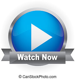 Glossy media button - Glossy Media Button,Play with Watch...