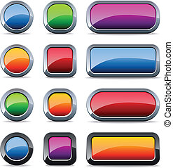 Glossy metal buttons
