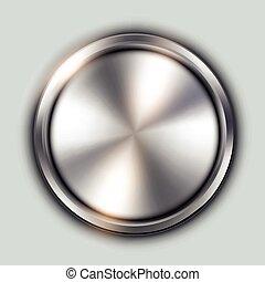 Glossy metallic button