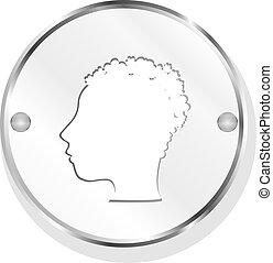 Glossy Metallic Style Person icon