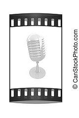 Glossy microphone. The film strip