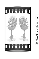 Glossy microphones. The film strip