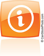 Glossy orange info
