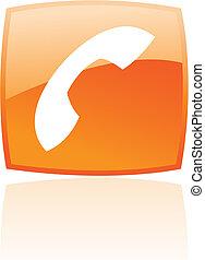 Glossy orange phone