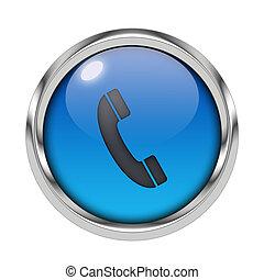 Glossy phone icon