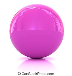 Glossy pink sphere