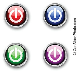Glossy power icons