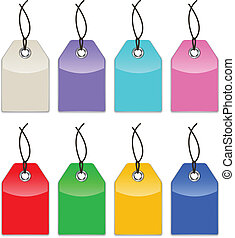 Glossy price tags