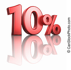 Glossy Red Ten Percent