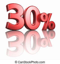 Glossy Red Thirty Percent - Glossy red thirty percent on...