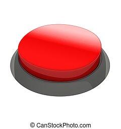Glossy round button
