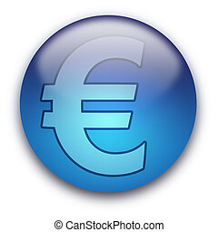 Euro currency button / sign