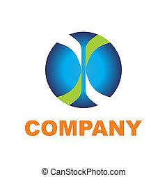 Glossy round icon symbol