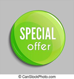 Glossy sale button or badge. Product promotions. Special offer, vector.