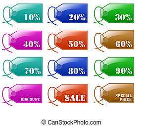 Glossy Sale Discount Label