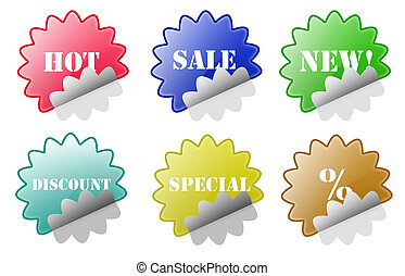Glossy Sale Discount Stickers