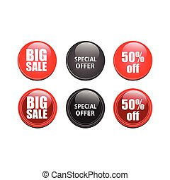 glossy sales button vector design illustration