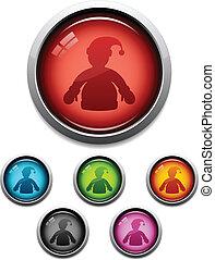 Santa button icon