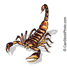 Glossy Scorpion - 3D render of a scorpion with a glossy...