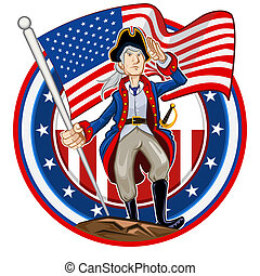 American Patriot Emblem - Glossy Shiny American Patriot...