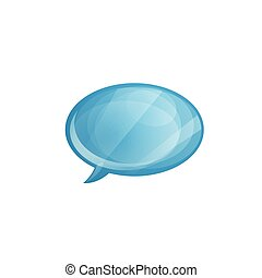 Glossy speech bubble icon isolated on white background