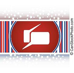glossy speech bubble web button icon vector