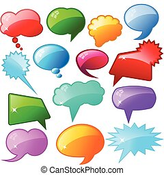 Glossy speech bubbles