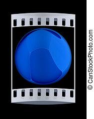 Glossy sphere. The film strip