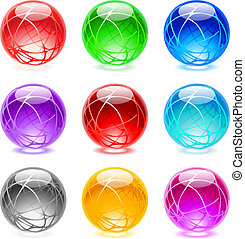 Glossy spheres - Collection of colorful glossy spheres ...