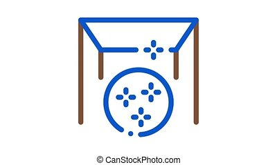 glossy stretch ceiling Icon Animation. color glossy stretch ceiling animated icon on white background