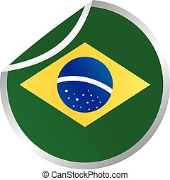 glossy theme brazil national flag