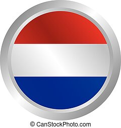 glossy theme netherlands national flag - shiny glossy theme...