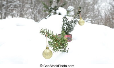 glossy toy christmas snow