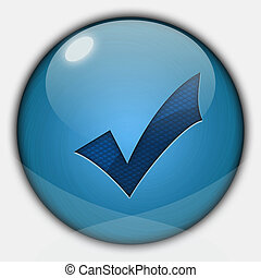 Glossy validation button