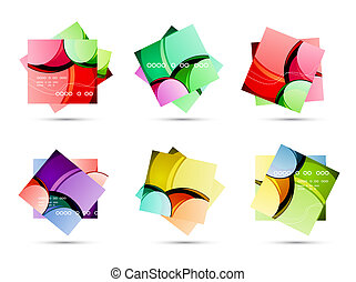 Glossy vector cards