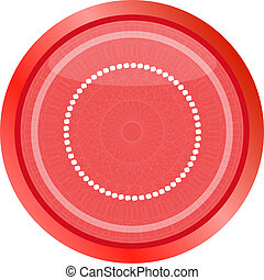 glossy web buttons with abstract circles . Flat sign isolated on white
