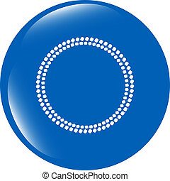 glossy web buttons with abstract circles isolated on white background