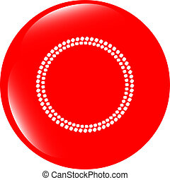 glossy web buttons with abstract circles