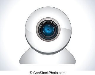 glossy web cam icon vector illustration